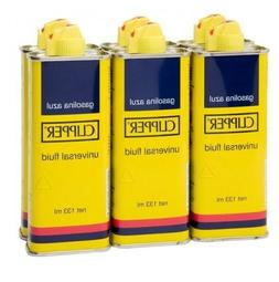 6x Clipper Premium Lighter Fluid Petrol 133ML Each