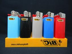 8 Bic Assorted Plain Colors Mini Size Disposable Lighters