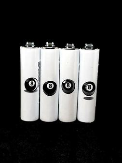 Clipper 8 Ball Print Design Lighter Bundle 4 Pack Wholesale
