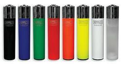 8 Ct Full Size CLIPPER Flint Lighters Refillable ASSORTED MI