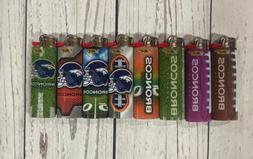 8 Bic Lighters Denver Broncos NFL Football Regular Size Disp