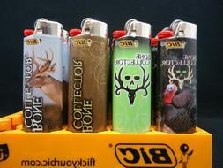 7 Bic Lighters Bone Collector Deer Skull Hunter Regular Size