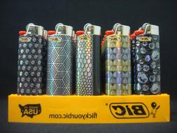 8 Bic Lighters Night Out Series Regular Size Disposable