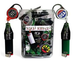 10x Retractable 420 Series Lighter Leash - Premium Metal Lea