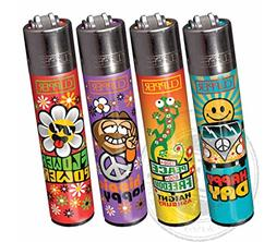 "Bundle - 4 Items - Clipper Lighter ""Hippie"" Collection"