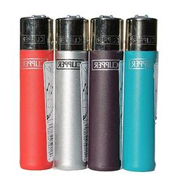 "Bundle - 4 Items - Clipper Lighter "" Metallic Solid "" Collec"