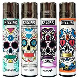 "Bundle - 4 Items - Clipper Lighter Sugar Skulls ""Mexican Sku"