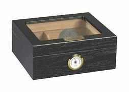 Quality Importers Capri Glasstop 25-50 Cigar Glasstop, Black