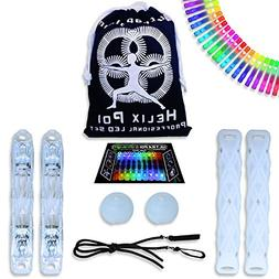 UltraPoi Helix Poi Set LED Poi for Raves and Concerts LED Gl