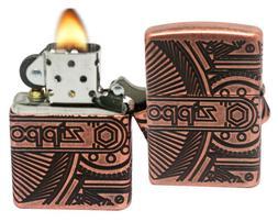 Zippo Lighter: Armor MultiCut Steampunk Gears - Antique Copp