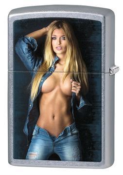 Zippo Lighter: Handle with Care - Street Chrome 76827