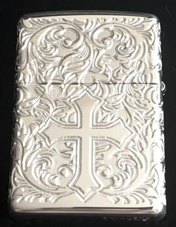 Zippo Limited Edition Sterling Silver Cross Lighter With Wra