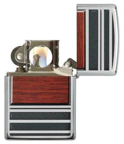 Zippo Steel and Wood Lighter With Pipe Lighter Insert,  2867