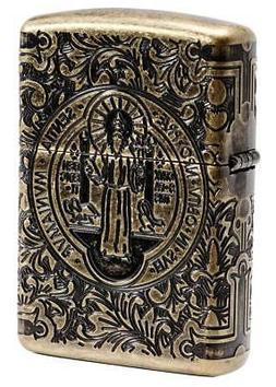Zippo Windproof Armor St. Benedict Lighter, Constantine, 297