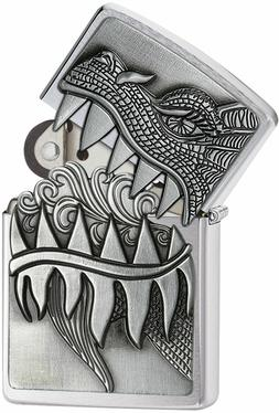 Zippo Windproof Fire Breathing Dragon Lighter, 28969, New In