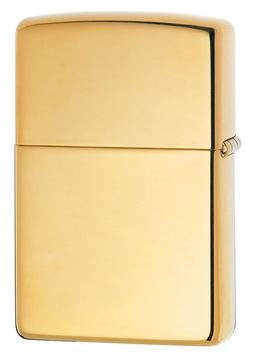 Zippo Windproof High Polished Brass Lighter, # 254B, New In