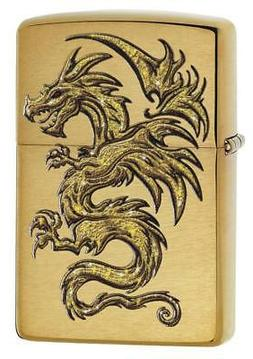 Zippo Windproof Mythological Golden Dragon Design Lighter, 2