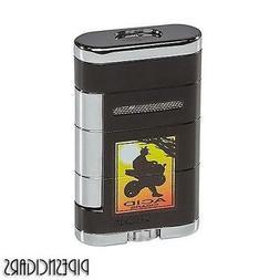 XIKAR Allume ACID Double Dual Jet Torch Cigar Lighter Black