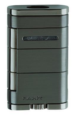 Xikar 9684GM Allume Double Jet Flame Lighter, Gun Metal