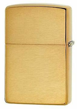 Zippo 168 Armor Brushed Brass Pocket Lighter