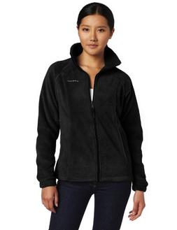 Columbia Women's Benton Springs Full Zip, Black, Small