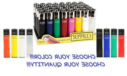 BIG Size CLIPPER Refillable Full Lighters Mix Solid Color CI