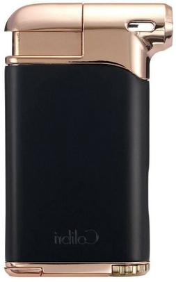 Black & Rose Gold Colibri Pacific Air Angled Soft Flame Pipe