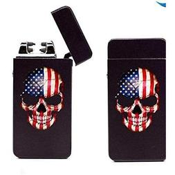 Black Household Supplies Skull Tesla USB Rechargeable Flamel