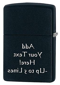 Black Matte Zippo Outdoor Indoor Windproof Lighter Free Cust