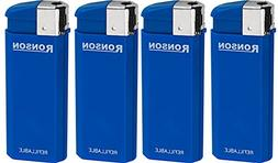 LIGHTERS Lot of 4 Blue Ronson Comet Refillable
