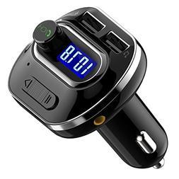 VicTsing  V4.1 Bluetooth FM Transmitter for Car, Wireless Ra