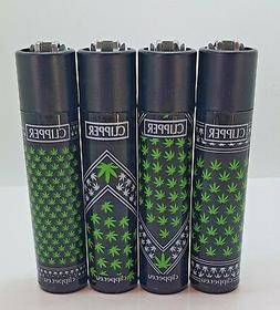 Brand New 4 Clipper Lighters Weed Bandanas Collection Full S