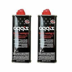 Brand New Zippo 494 Lighter Fluid 4 oz , Black 2-Pack