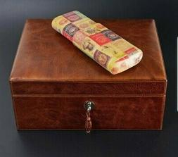 BRIZARD & CO LEATHER 3 CIGAR CASE VINTAGE LIMITED EDITION ON