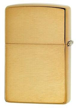 Zippo Brushed Finish Brass Lighter