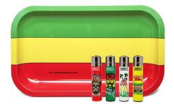 "Bundle - 5 Items - Clipper Lighter Reggae ""Rasta"" Collection"