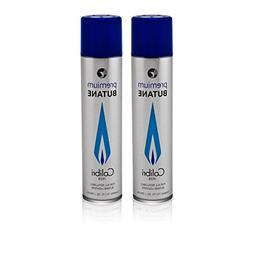 Colibri Premium Butane 300ml - 2 Pack+ FREE Torch lighter