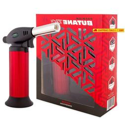 Butane Torch Lighter Refillable - Child Proof Lock - Profess