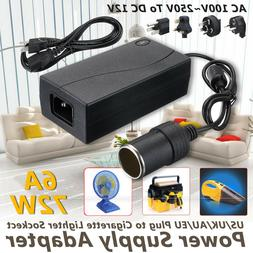 Car Home Cigarette Lighter Power Supply Adapter 6A 80W DC100