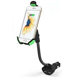 Car Phone Mount Charger Holder, Universal Gooseneck, Upgrade