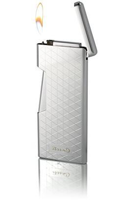 Visol Caseti Lumos Ultra-Thin Traditional Flame Lighter, Chr
