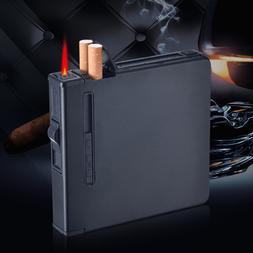 Charging <font><b>Metal</b></font> Automatic Cigarette Case