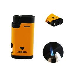 Cigar Torch Lighter with Punch Windproof Double 2 Jet Flame
