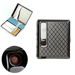 firedog Cigarette Case Holder w/Built-in Flameless Electroni