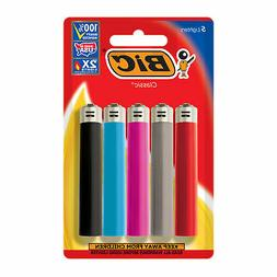 BIC Classic Lighter, 5-Pack, Assorted Colors