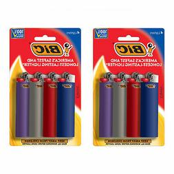 BIC Classic Lighter, Assorted Colors, 8-Pack