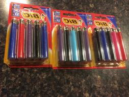 BIC Classic Lighter, Assorted Colors, 3 Packs of 5 Brand new
