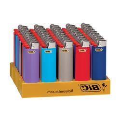 BIC Classic Lighter, Assorted Colors, 50-Count Tray, Free 2-