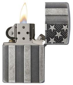 Zippo Pocket Lighter USA FLAG ARMOR 3D-Cut Smoke Camp EDC Ta
