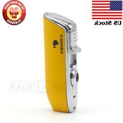 COHIBA Cigar lighter 3 Torch JET Flame Cigarette Lighter Wit